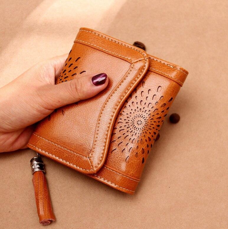 2019 Neue Leder Damen Geldbörse Weiblichen Kurzen Student Koreanische Version Des Multi-funktion Mini Geldbörse Führerschein Brieftasche Feines Handwerk