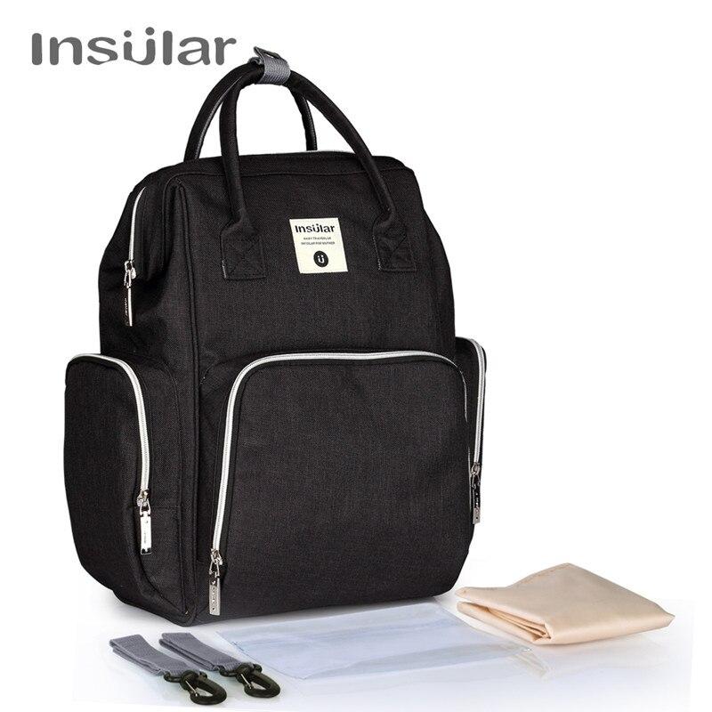 New Diapering Diaper Bag Change Pad Hooks Tissue Box Mummy Nappy Bag Large Capacity Baby Bag Travel Backpack Mummy Backpacks