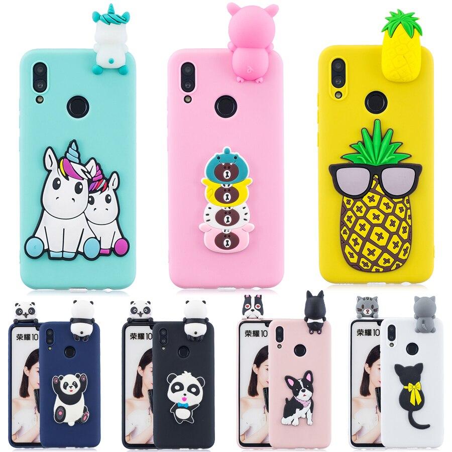 cf9d0e56313 honor 10 lite Case sFor Huawei honor 10 lite cover 3D Unicorn panda Cartoon  Silicone cover For Huawei honor 10 lite shell Fundas