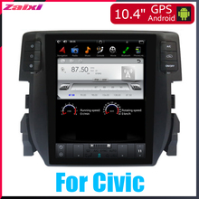 ZaiXi 10.4 Tesla Type Android For Honda Civic 2016~2018 Car DVD Player Navigation GPS Radio Multimedia system