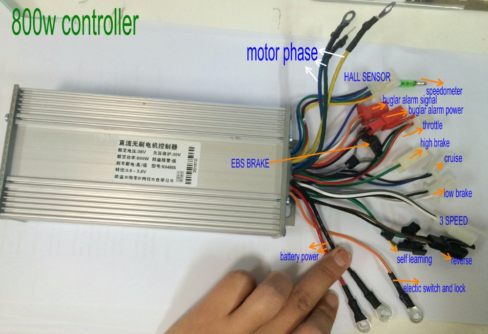 36v48v60v64v800w1000w Bldc Motor Controller 15mosfet With