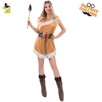 Classical Fringed Indian Native Women Costumes Adult Carnival Party Beautiful Native Indian Goddess Decoration Dress