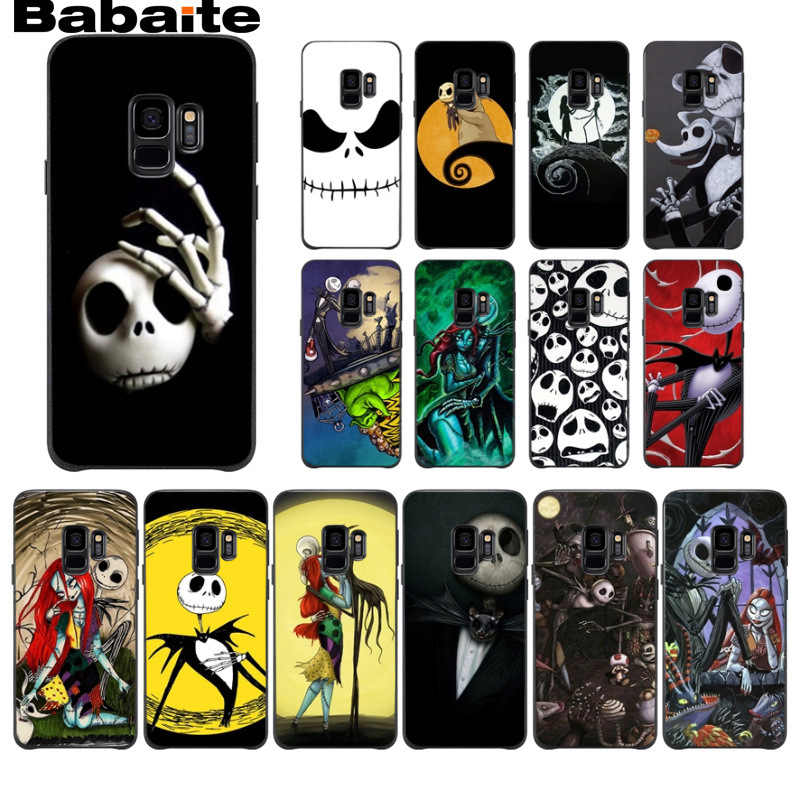 Nightmare Before Christmas halloween Cell Phone Case For Samsung Galaxy s9 s8 plus note 8 note9 s7 s6edge Mobile Cases Babaite