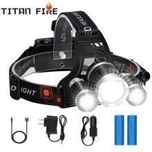 30000LM LED Headlamp 3xT6 Headlight Waterproof Cycling Fishing Hunting Camping 4 Lighting Modes Flashlight High Brightness