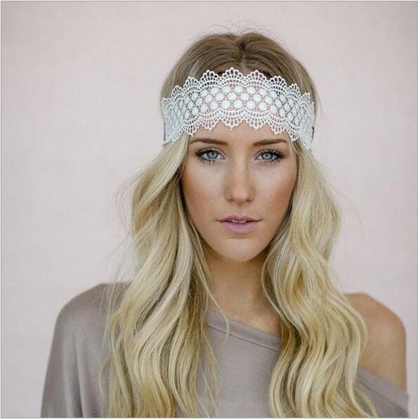 summer lace flower elastics headbands scrunchie for women girl turban  headband hair head band ornaments accessories headdress d205426de62
