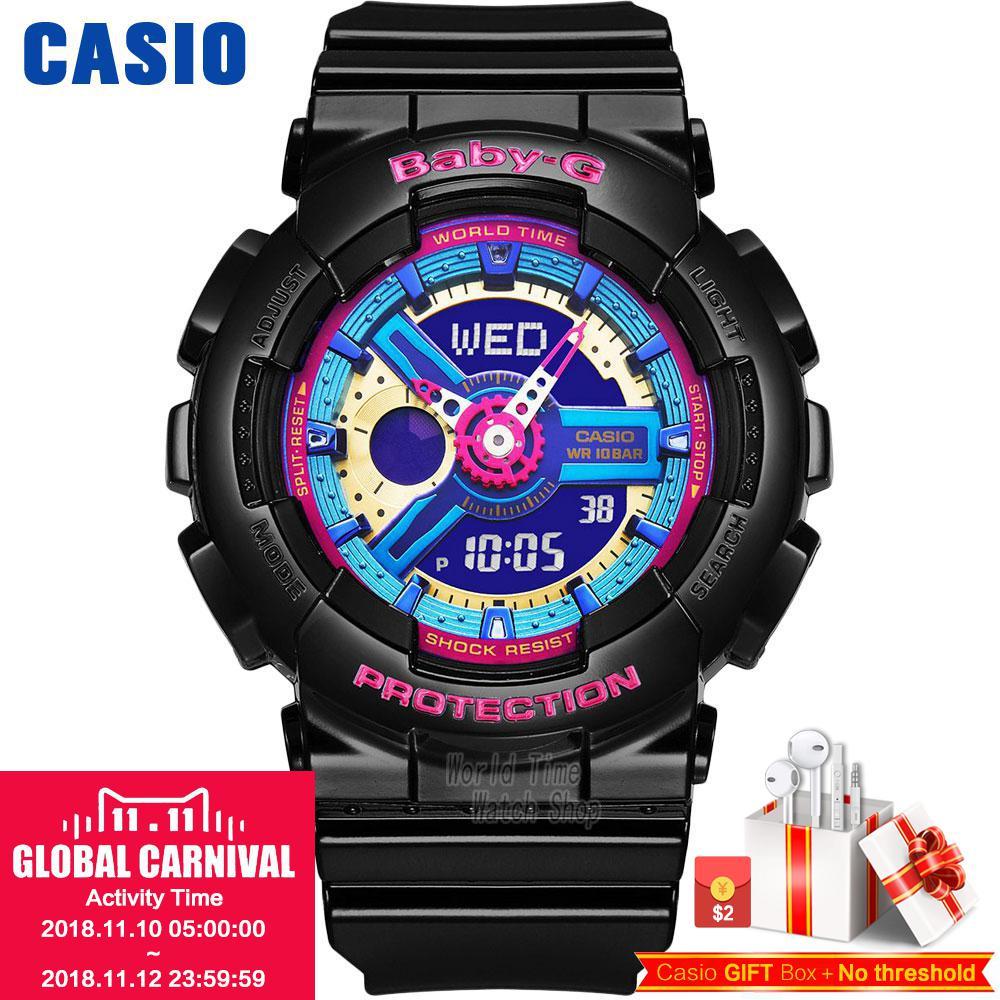 Casio watch Casual fashion sports waterproof double significant female table BA-112-1A BA-112-7A casio ba 110ga 1a