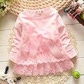 2016 otoño vestido de bebé recién nacido/suave y lindo encaje princesa vestido infantil niñas bebés dres Bebé ropa