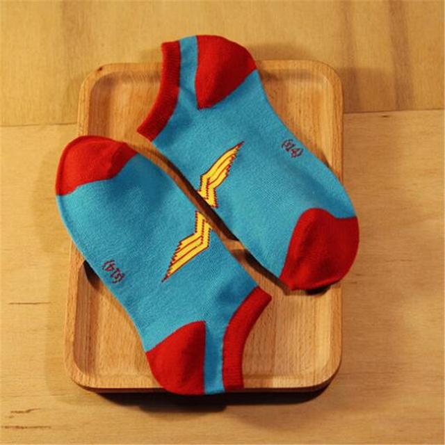 Super Hero Patterned Cotton Short Socks