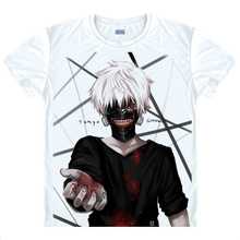 Tokyo Ghoul T shirt kawaii Japanese Anime tshirt Handmade Manga Shirt Cute Cartoon Ken Kaneki Cosplay
