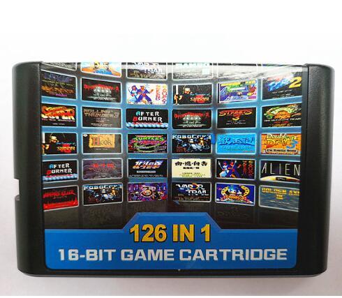 126 em 1 para o cartão de Jogo Sega Megadrive Genesis com Super Sonic Battle Mania Marioed Batman & Robin Contra Shinobi Pulseman