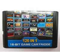 126 in 1 für Sega Megadrive Genesis Spiel karte mit Super Marioed Batman & Robin Schlacht Mania Contra Sonic Shinobi Pulseman