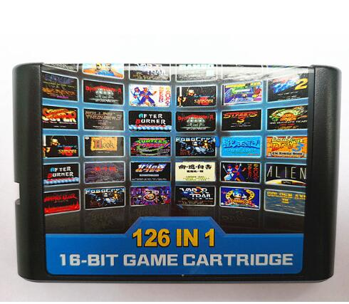 126 in 1 for Sega Megadrive Genesis Game card with Super Marioed Batman & Robin Battle Mania Contra Sonic Shinobi Pulseman image