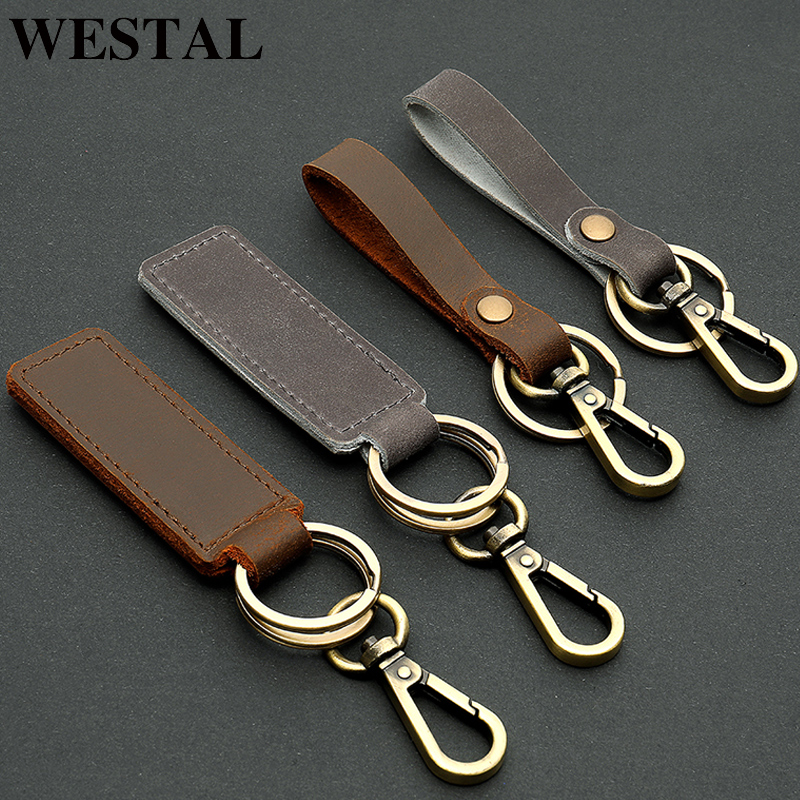 MENS WOMENS LEATHER KEYRINGS//KEYCHAINS PRESS STUD STRAP UK HANDMADE