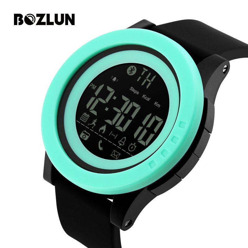 Bozlun Men Smart Watch Sports Watches Male Bluetooth Calorie Pedometer Digital Wristwatches 50M Waterproof Relogio Masculino купить в Москве 2019