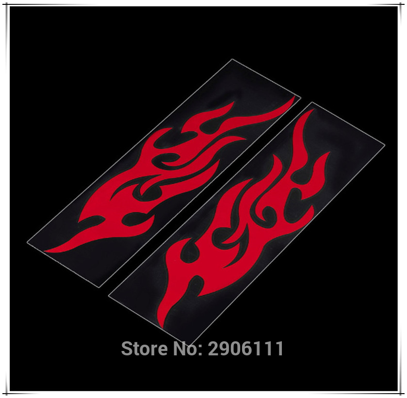 Universal Car Sticker Styling Motorcycle Decal Accessories Auto Flame Fire for Land Rover discovery 2 3 freelander 1 2 defender
