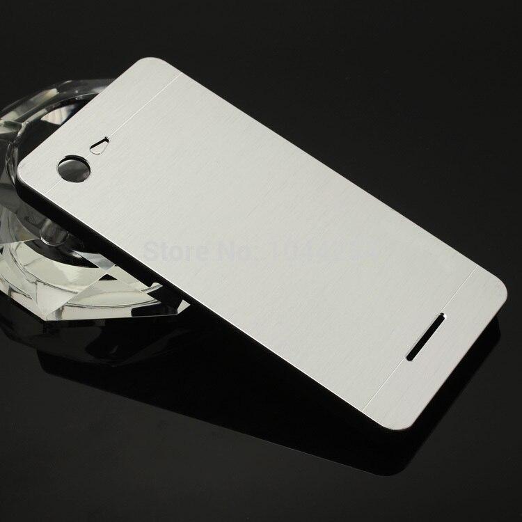 hot sale online b27eb 9fa7f US $3.98 |FOR SONY XPERIA E3 Metal Brush Hard Case Back Cover Aluminum+  Plastic Back Case Capa Celular Funda on Aliexpress.com | Alibaba Group