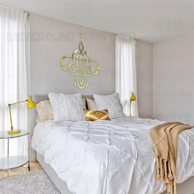 diy decoracin espejo reflectante linterna d adhesivo pegatinas de pared para saln comedor sala de estar