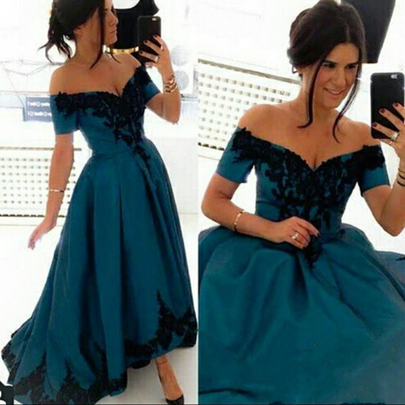 Celebrity Runway Dress gown prom bridesmaid homecoming  highlow  black only