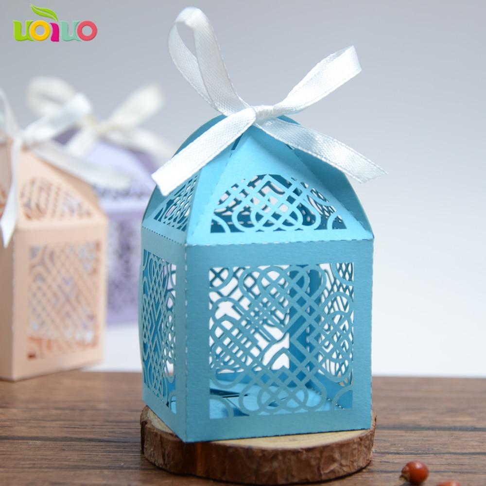 Комплект синего цвета «любящее сердце» лазерной резки ручной работы свадебные бумаги коробки маленький размер Китайский традиционный кор...