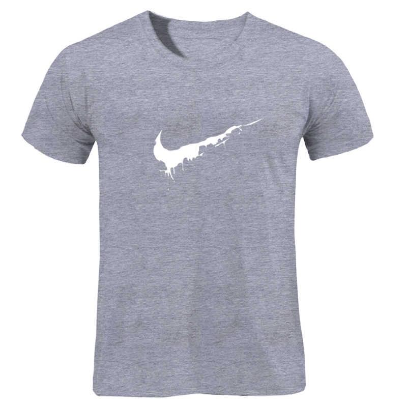 プリント Tシャツメンズ黒と白の綿 100% 夏の Tシャツ夏のスケートボード Tシャツスケート Tシャツトップス 2018 新ブランド