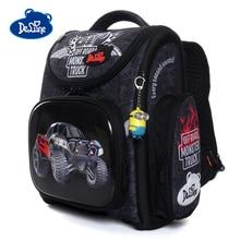 Delune New Orthopedic Backpack Car Pattern School Bags For Boys Girls Cartoon Backpacks Children Primary Mochila Infantil 3-162 цена в Москве и Питере