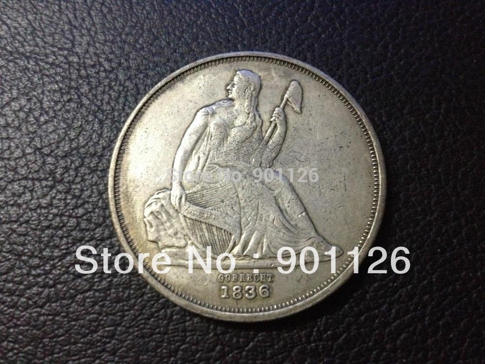 1751378d59fe 1836 gobrecht серебро один доллар Бесплатная доставка Ницца монет купить более  20 монеты получить скидку 15%