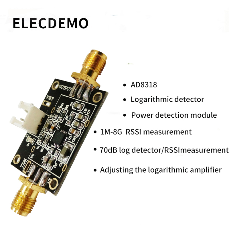 AD8318 Module Logarithmic detector power detection module 1M 8G RSSI measurement RF power meter  Function demo board-in Demo Board Accessories from Computer & Office