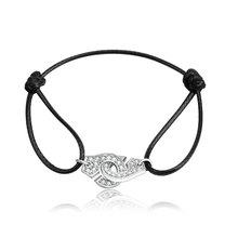 925 безукоризненные Серебрянные Серьги наручники браслет Франции Лидер продаж браслет наручники браслет с красный/зеленый/черный/синий/желтая веревка подарок