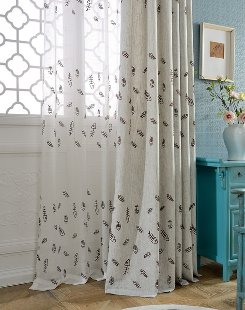 The New Cotton Embroidery Fun Cartoon Thickening Curtains For Living Dining Room Bedroom