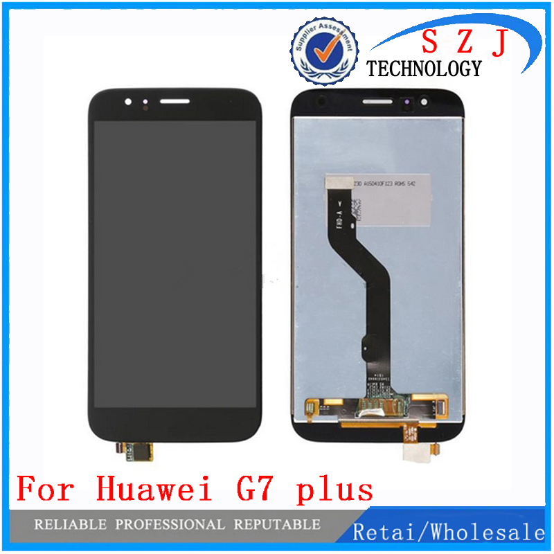 цены  Black/White/Gold - Free Shipping 100% Original Tested LCD Display Touch Screen Digitizer Assembly For Huawei G7 plus Maimang4 G8