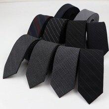 Dark Color Men's 100% Wool Necktie Ties Skinny Striped Narrow Knitted Tie Casual Plaid Ties England Cravat 6cm Width