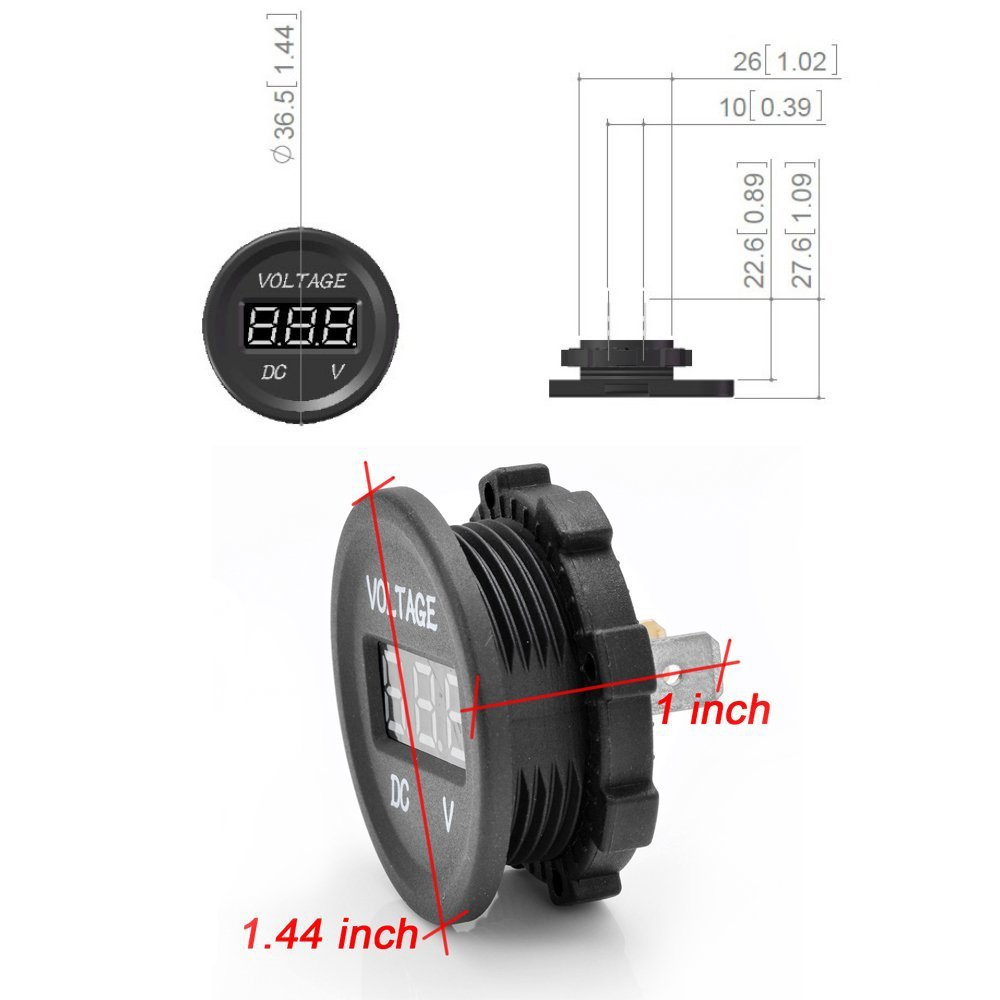 waterproof digital led voltmeter socket connecting wire 12v power 12v car socket wiring diagram waterproof digital [ 1000 x 1000 Pixel ]