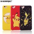 De dibujos animados de teléfono de silicona cubiertas para iphone 5s 6 s 7 plus SÍ Pikachu Celular Ultra Fino Suave A Prueba de Golpes Volver Casos Shell DE33