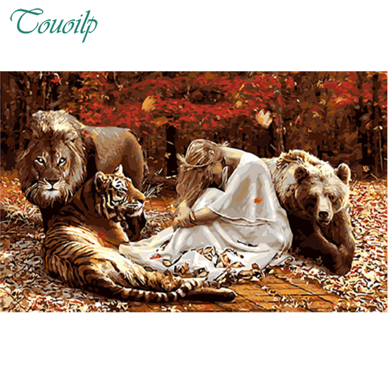 Diamond Painting Women And Animals,the beauty and beast DIY 3D Diamond Embroidery,5D,Cross Stitch,3D,Diamond Mosaic,Decoration