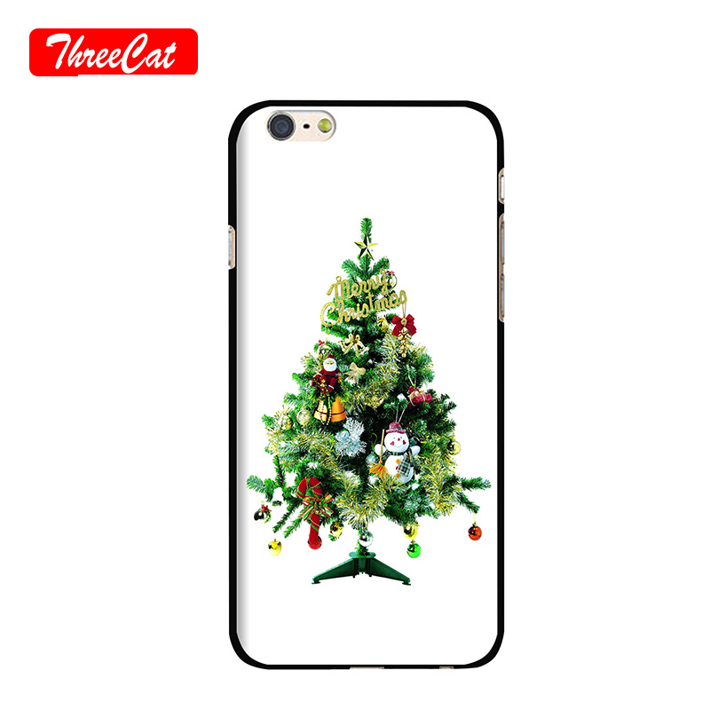 Phone Case for iphone 6 6s Plus Soft TPU Merry Christmas Tree Deco Best Gift On Sale! Luxury Cool Case For iPhone 7 8 Plus X