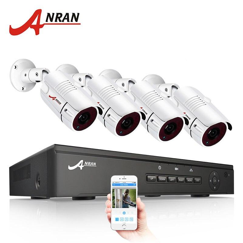 ANRAN 48 v POE 4CH NVR CCTV Kit Onvif P2P 1080 p HD H.264 Vidéo Surveillance Extérieure Étanche de Sécurité IP caméra Système
