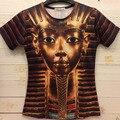 2016 Summer Casual Brand Divertido 3D Faraón Egipcio Impresa Mujeres de la Camiseta/Ropa de Los Hombres Del O-cuello Corto Manga de la Camiseta Harajuku Tapas de la camisa