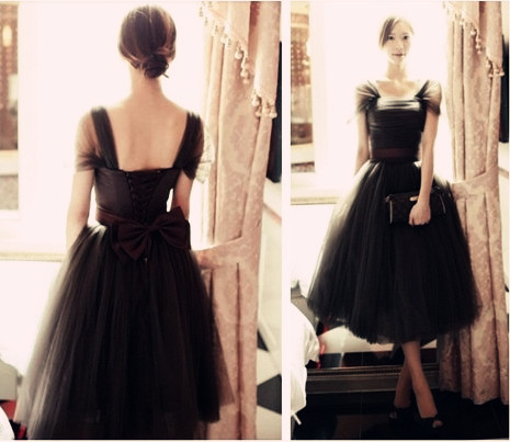 Spring and summer new Vintage Hepburn Europe Ladies princess Palace Gauze ball gown dress Lolita Simple