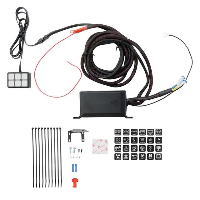 universal 6 key led switch panel relay control box wiring harness rh aliexpress com d series wiring harness