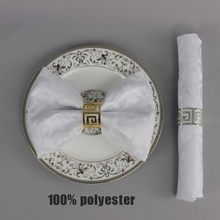 6pcs/lot 48*48cm Hotel Banquet Polyester Square Table Napkin Wedding Party Decoration Pocket Handkerchief Ceremony Folding Cloth(China)