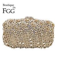 Boutique De FGG ослепительно цветочный клатч сумочки косметички Для женщин кристалл вечерняя сумочка; BS010 Свадебная вечеринка кошельки и Сумки су