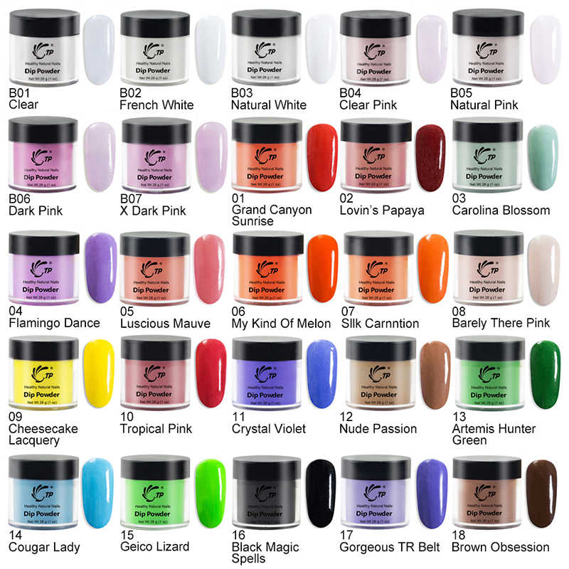 Dip Powder 1oz/28g French Nail Color Glitter No UV Lamp Cure Manicure Nail Art Gel Salon Dust Decoration Lasting easy dry Sale