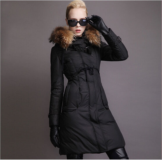 High quality Nice new brand winter duck down parka luxury real raccoon fur font b jackets