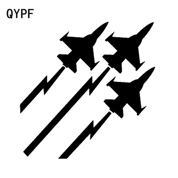QYPF 15.1cm*15.2cm An Triple Arrow Like Speed Aircraft Accessories Vinyl Car Sticker Great Experience Decal C18-0666 image