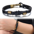 Brand Fashion New Handmade Leather Wrap Bracelets Vintage Cheap Price Alloy Men Jewelry Good Gift For Man