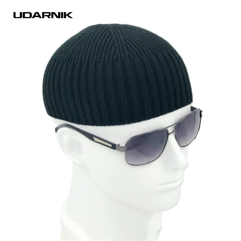 Men Knitted Hat Wool Blend   Beanie   Skullcap Cap Brimless Hip Hop Hats Casual Black Navy Grey Retro Vintage Fashion New 904-897