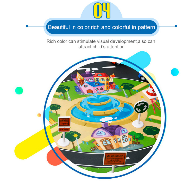 HTB1Q3uXciQnBKNjSZFmq6AApVXaP 39Pcs City Map Car Toys Model Crawling Mat Game Pad for Children Interactive Play House Toys (28Pc Road Sign+10Pc Car+1Pc Map)
