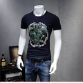 KUBEIYING  T-Shirts Men Casual Short Sleeve T-Shirt O Neck Cotton Mens t shirt Man Tops Tees men's high-end luxury brand clothes