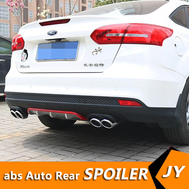 Ford Focus Body Kit >> Us 47 52 46 Off For Ford Focus Abs Rear Bumper Diffuser Bumpers Protector For 2013 2018 Focus Body Kit Bumper Rear Lip Rear Spoiler In Body Kits