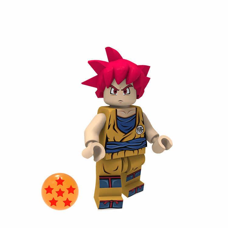 1 sztuk sprzedać Dragon Ball Super klocki Brolly czarny Goku słońce Vegeta nauka figurki prezent zabawki Legoing Minifigured